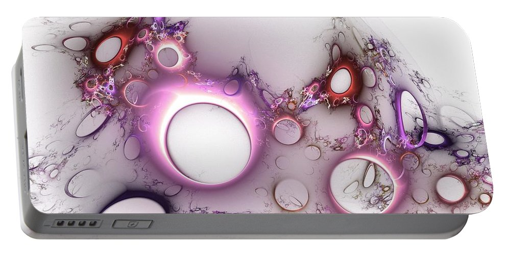 Hole Portable Battery Charger featuring the digital art Hole To Hole by Steve K