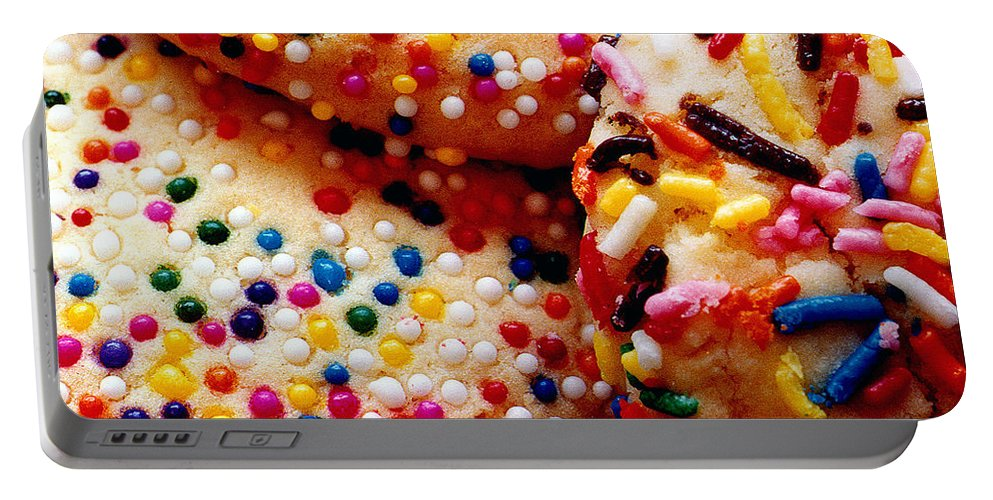 Cookie Portable Battery Charger featuring the photograph Holiday Cookies by Nancy Mueller