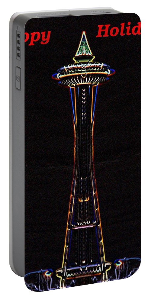Seattle Portable Battery Charger featuring the photograph Holiday Needle 3 by Tim Allen