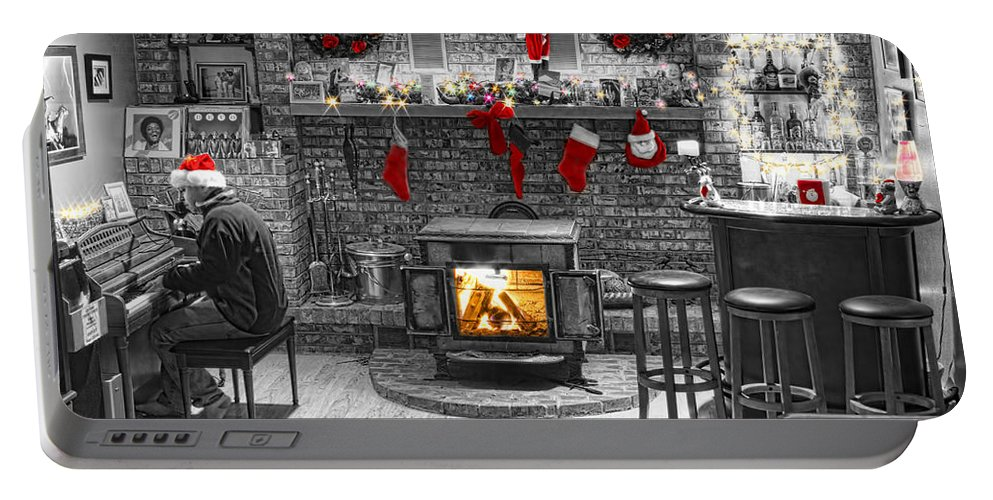 Holidays Portable Battery Charger featuring the photograph Holiday Spirit Magic by James BO Insogna