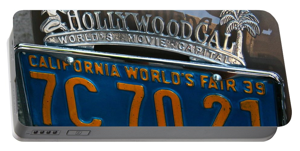 Photograph Portable Battery Charger featuring the photograph Hollywood by Gwyn Newcombe
