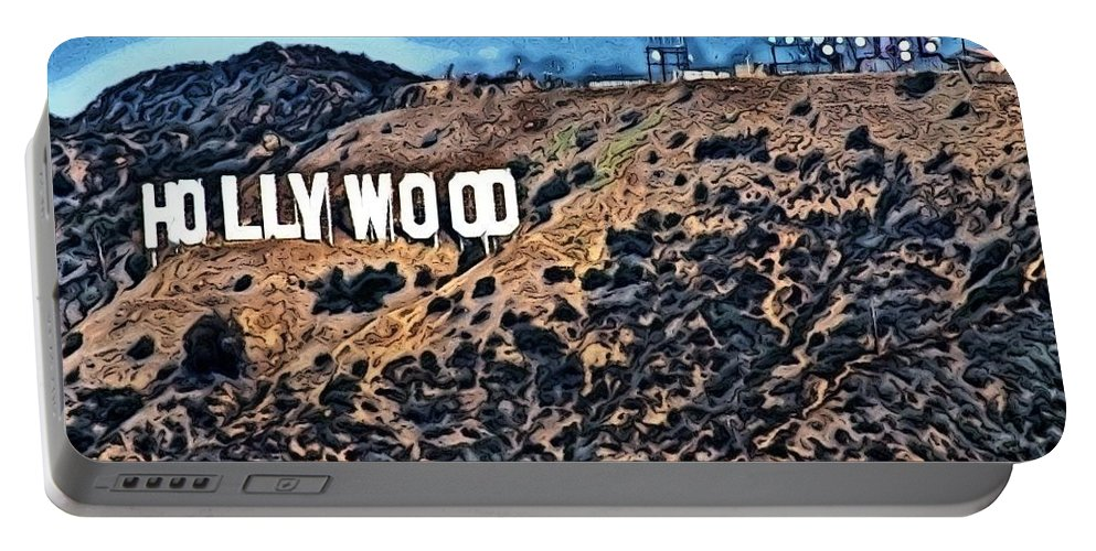 Hollywood Sign Portable Battery Charger featuring the photograph Hollywood Sign by Robert Butler