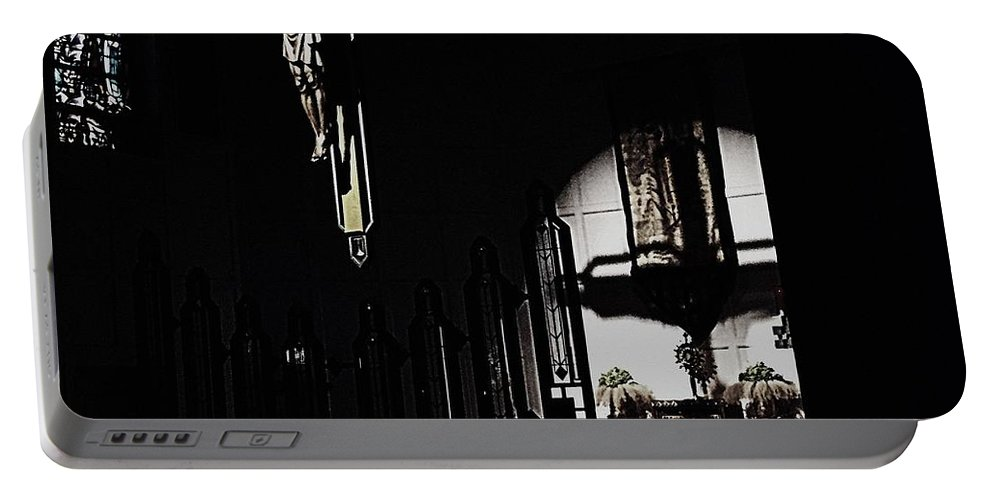 Cross Portable Battery Charger featuring the photograph Holy Adoration by Frank J Casella