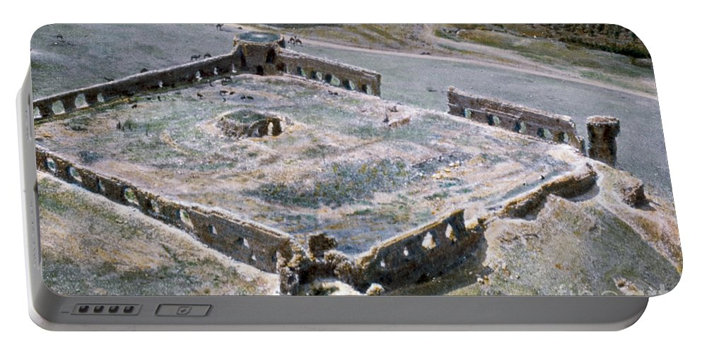 1950s Portable Battery Charger featuring the photograph Holy Land: Caravansary by Granger