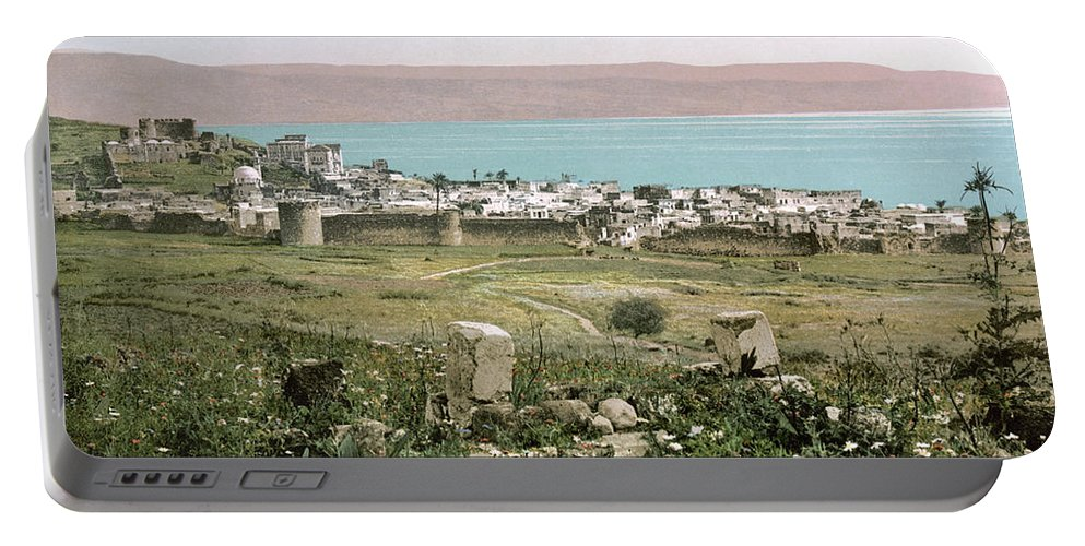 1895 Portable Battery Charger featuring the photograph Holy Land: Tiberias by Granger