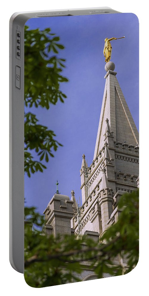 Mormon Portable Battery Charger featuring the photograph Holy Temple by Chad Dutson