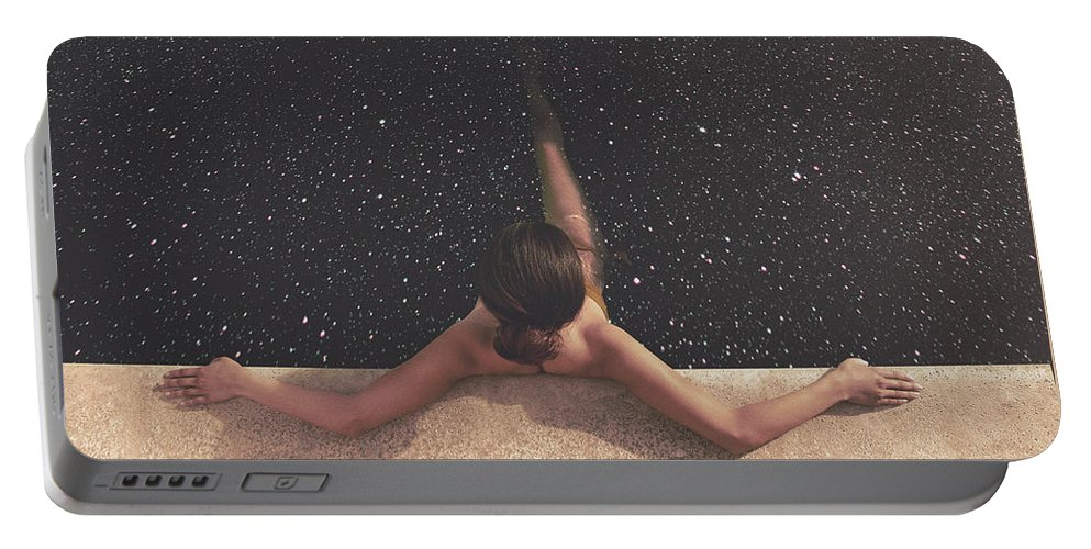 Collage Portable Battery Charger featuring the photograph Holynight by Fran Rodriguez