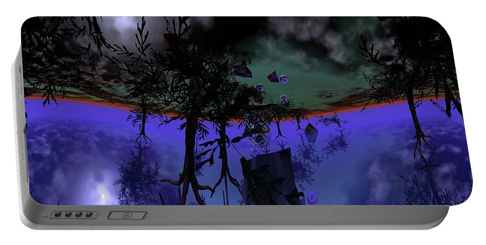Digital Painting Portable Battery Charger featuring the digital art Homage by David Lane