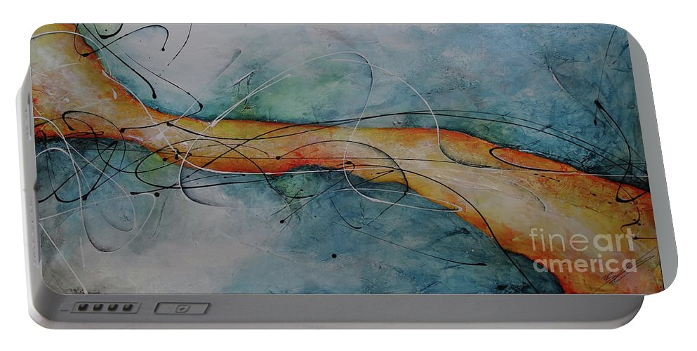 Art Portable Battery Charger featuring the painting Home by Bradley Carter