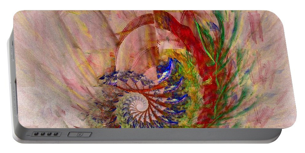 Non-representational Portable Battery Charger featuring the digital art Home By The Sea by NirvanaBlues