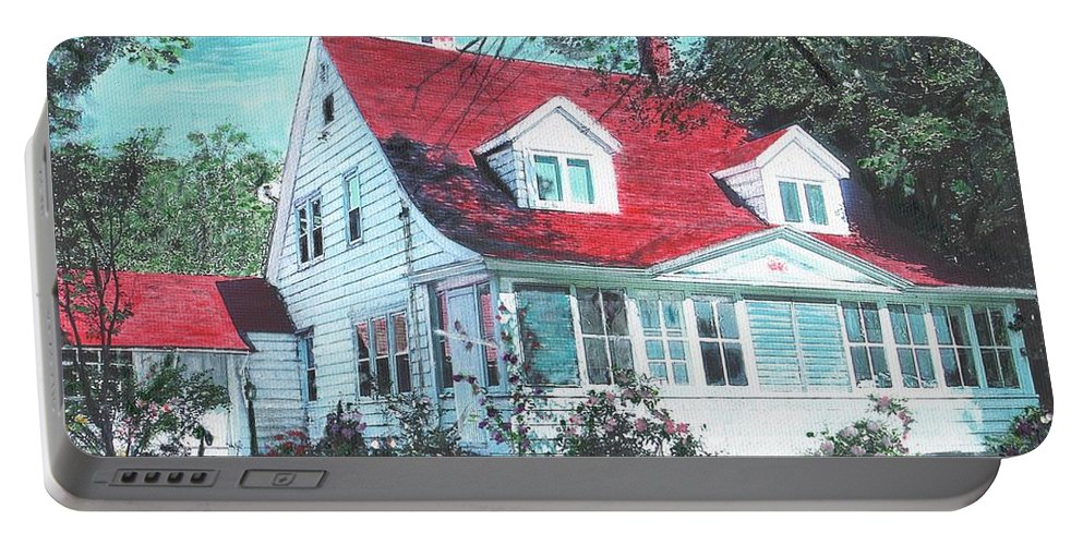 Farmhouse Portable Battery Charger featuring the painting Home by Cliff Wilson