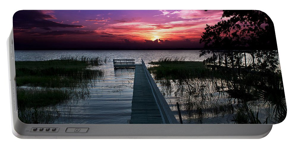 Sunsets Portable Battery Charger featuring the photograph Home by Dane Pontzius