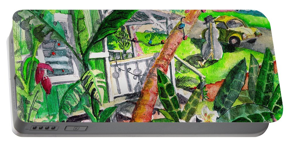 Christmas Portable Battery Charger featuring the painting Home For The Holidays by Eric Samuelson