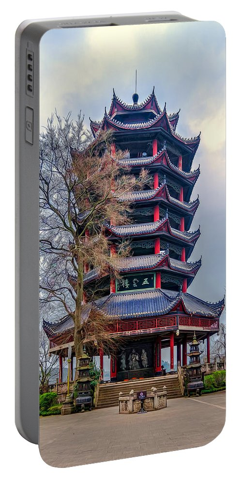 Ancient Portable Battery Charger featuring the photograph Wuyun Tower by Maria Coulson