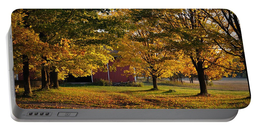 Fall Portable Battery Charger featuring the photograph Homecoming by Tim Nyberg
