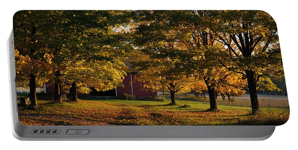 Fall Portable Battery Charger featuring the photograph Homecoming Two by Tim Nyberg