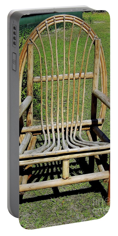 Majorie Kinnan Rawlings Portable Battery Charger featuring the photograph Homemade Lawn Chair by D Hackett