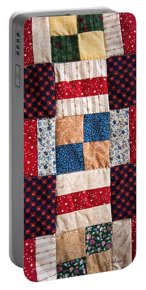 Quilt Portable Battery Charger featuring the photograph Homemade Quilt by Christopher Holmes