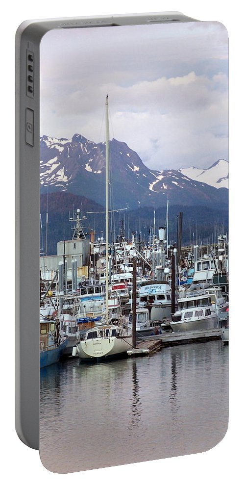 Homer Alaska Portable Battery Charger featuring the photograph Homer Harbor by Marty Koch