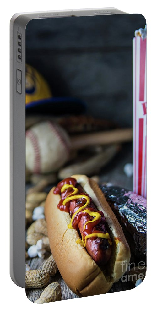 Summer Portable Battery Charger featuring the photograph Hometown Team by Deborah Klubertanz