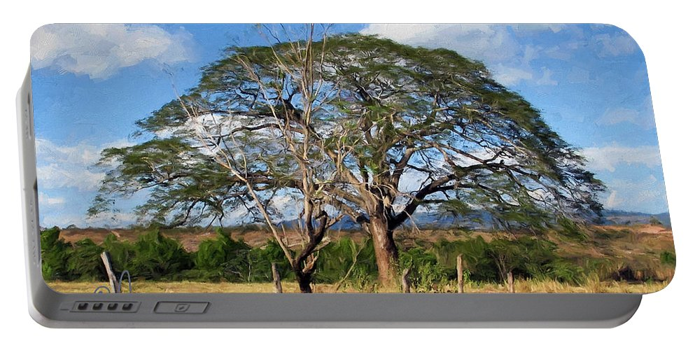 Honduras Portable Battery Charger featuring the digital art Honduran Tree by David Francey