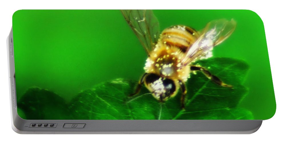 Honey Portable Battery Charger featuring the photograph Honey Bee by Bill Cannon