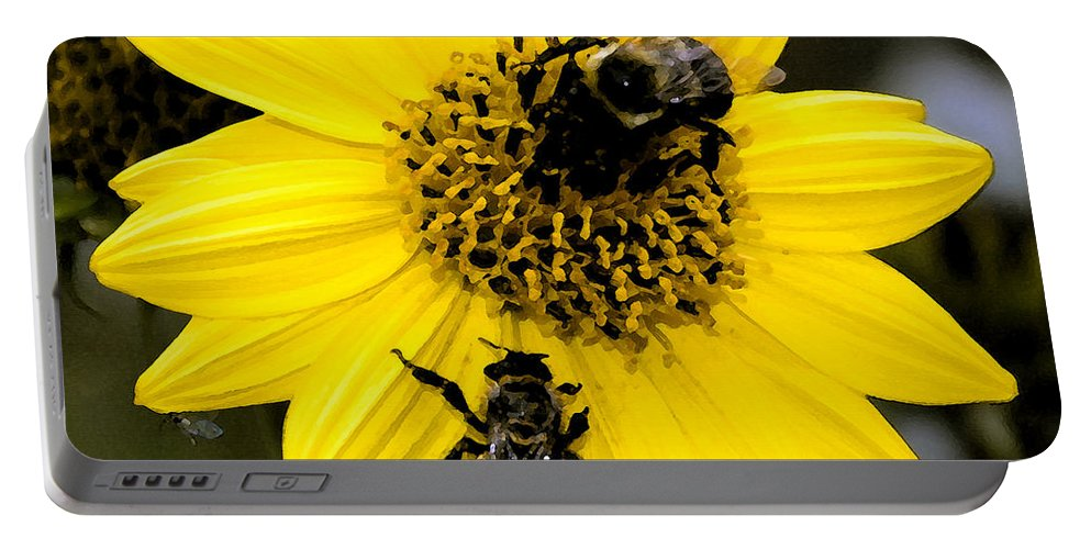 Honey Bees Portable Battery Charger featuring the painting Honey Bees by David Lee Thompson