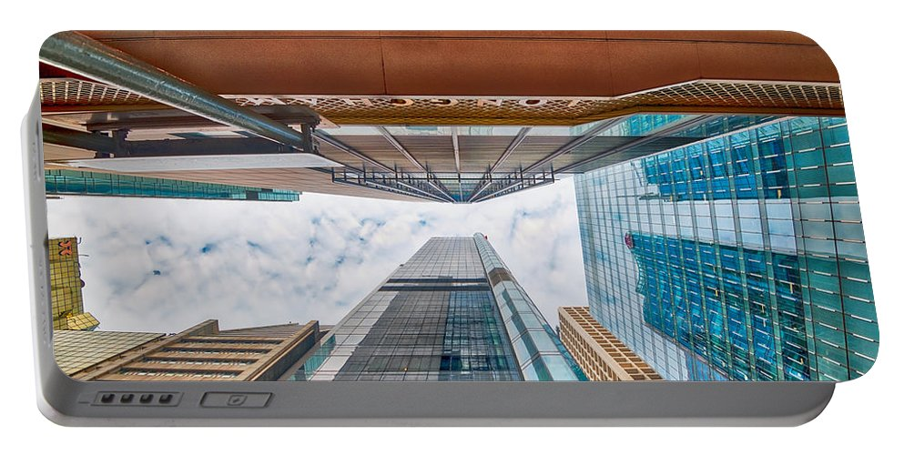 Hong Kong Buildings Portable Battery Charger featuring the photograph Hong Kong Buildings Colour by Charles King