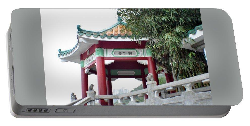 Hong Kong Portable Battery Charger featuring the photograph Hong Kong Temple by John Hughes