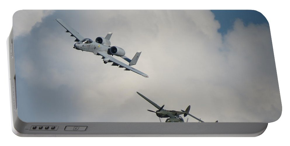 A-10 And P-38 Glacier Girl Portable Battery Charger featuring the photograph Honor Flight by Aimee Mouw