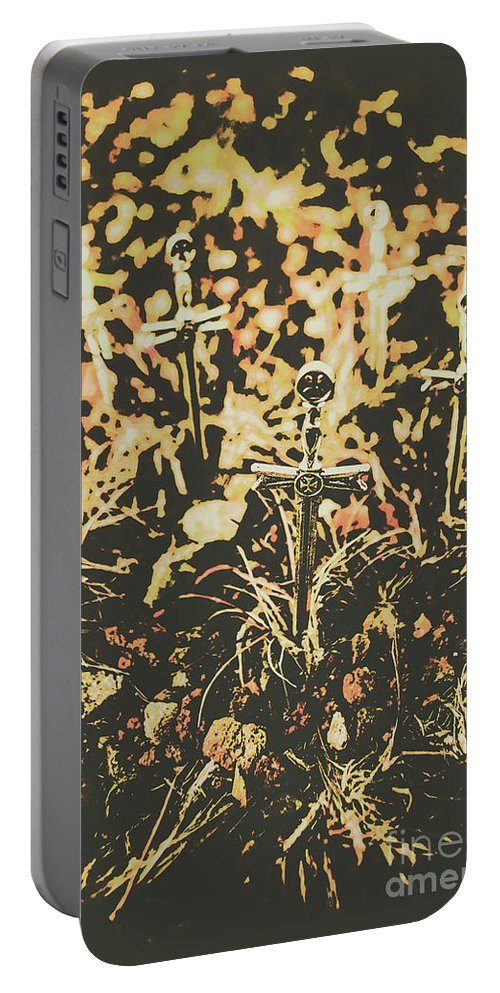 Cemetery Portable Battery Charger featuring the photograph Honor Of The Fallen by Jorgo Photography - Wall Art Gallery