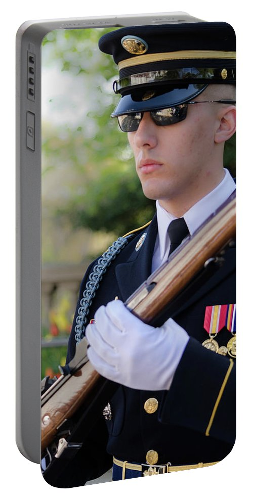 Arlington Virginia Portable Battery Charger featuring the photograph Honor by Stewart Helberg