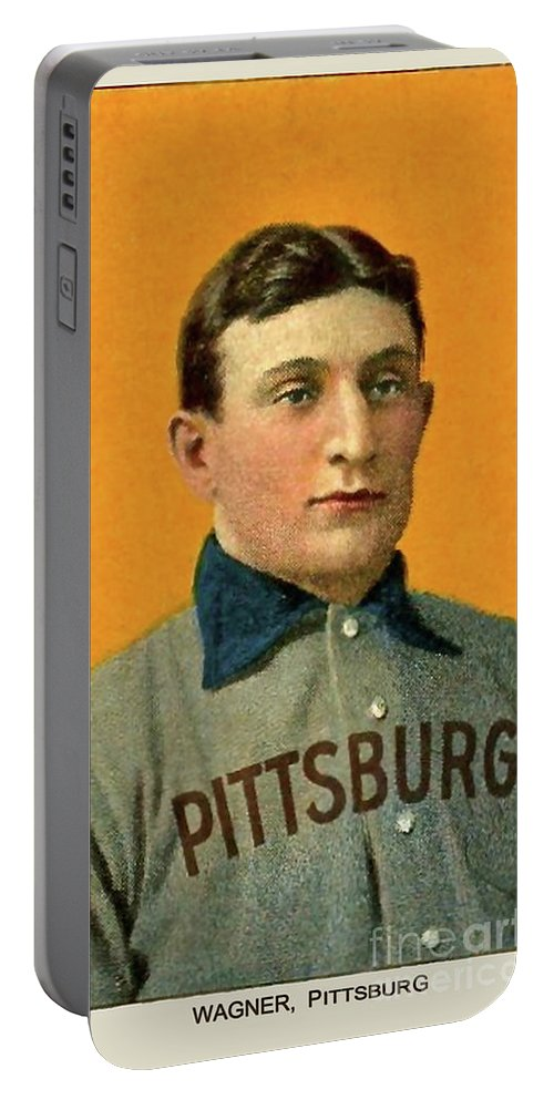 Honus Wagner Portable Battery Charger featuring the photograph Honus Wagner, Pittsburg Pirates by Thomas Pollart