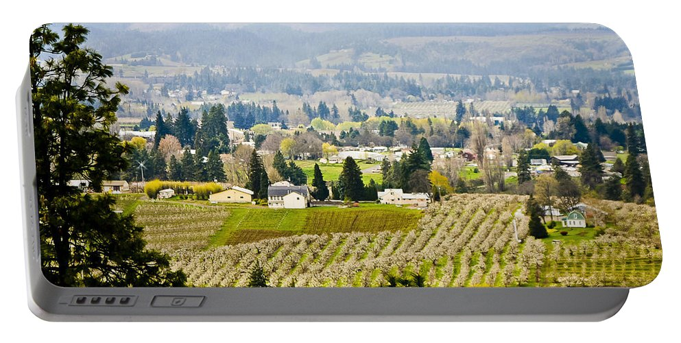 Orchards Portable Battery Charger featuring the photograph Hood River by Albert Seger