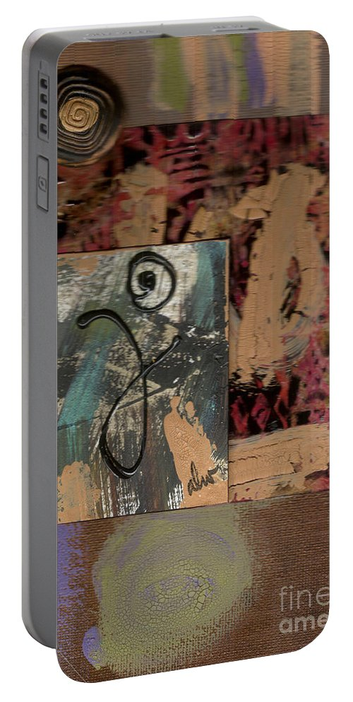 Wood Portable Battery Charger featuring the mixed media Hooray by Angela L Walker