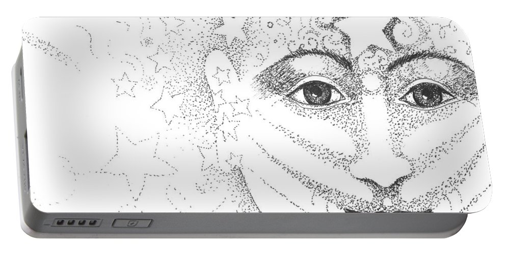 Hope Portable Battery Charger featuring the drawing Hope And Rebirth by Helena Tiainen