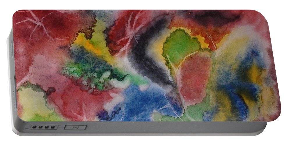Abstract Painting Portable Battery Charger featuring the painting Hope Energy by Georgeta Blanaru
