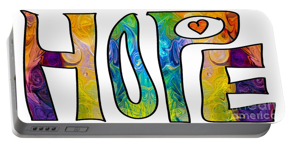 2015 Portable Battery Charger featuring the digital art Hope For Life Abstract Inspirational Artwork By Omaste Witkowski by Omaste Witkowski