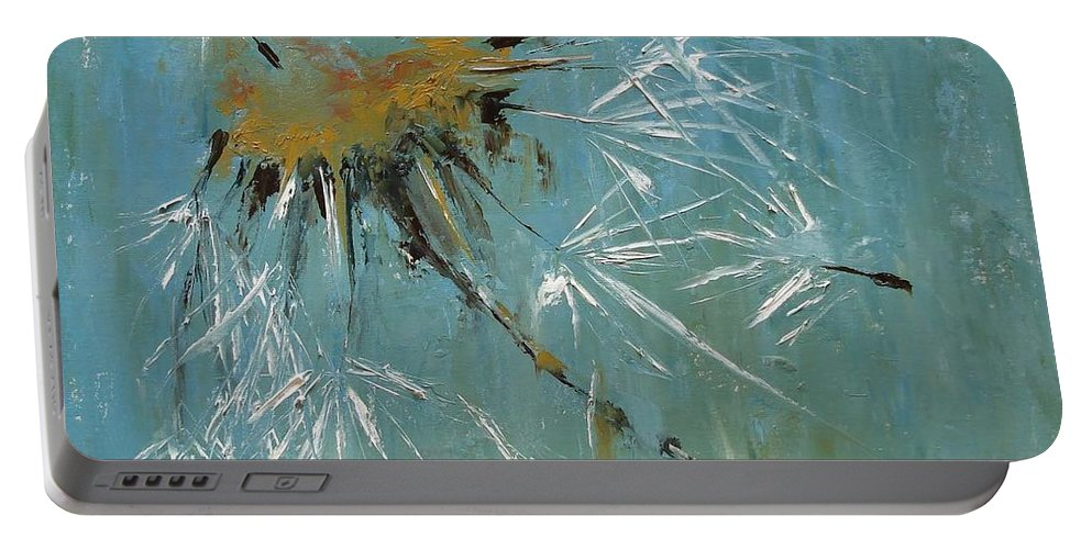 Plants Portable Battery Charger featuring the painting Hopes by Barbara Andolsek