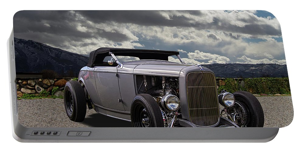 Ford Portable Battery Charger featuring the photograph Hord Hot Rod Speedster by Nick Gray