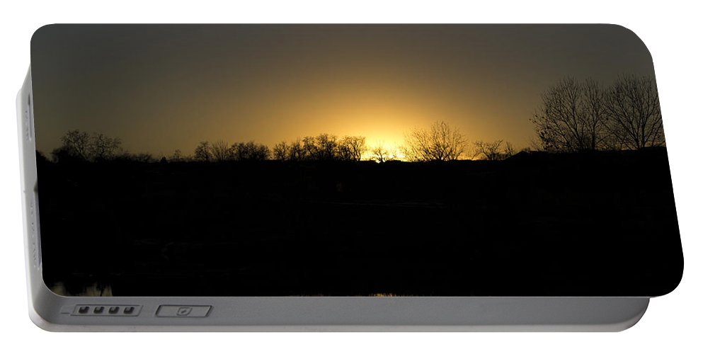 Sky Is The Limit Images Portable Battery Charger featuring the photograph Horizon Glow by Becca Buecher