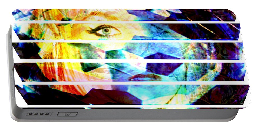 Woman Portable Battery Charger featuring the digital art Horizontal View by Seth Weaver