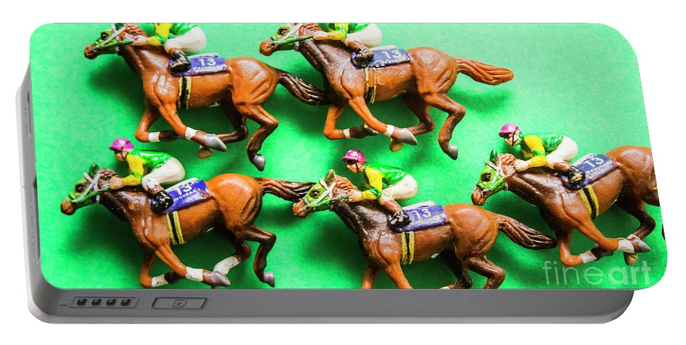 Horse Portable Battery Charger featuring the photograph Horse Racing Carnival by Jorgo Photography - Wall Art Gallery