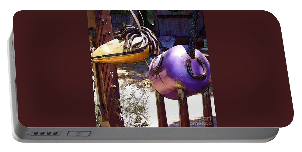 Sculpture Portable Battery Charger featuring the photograph Horse With No Name by Debbi Granruth
