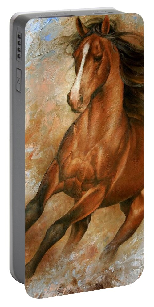Horse Portable Battery Charger featuring the painting Horse1 by Arthur Braginsky