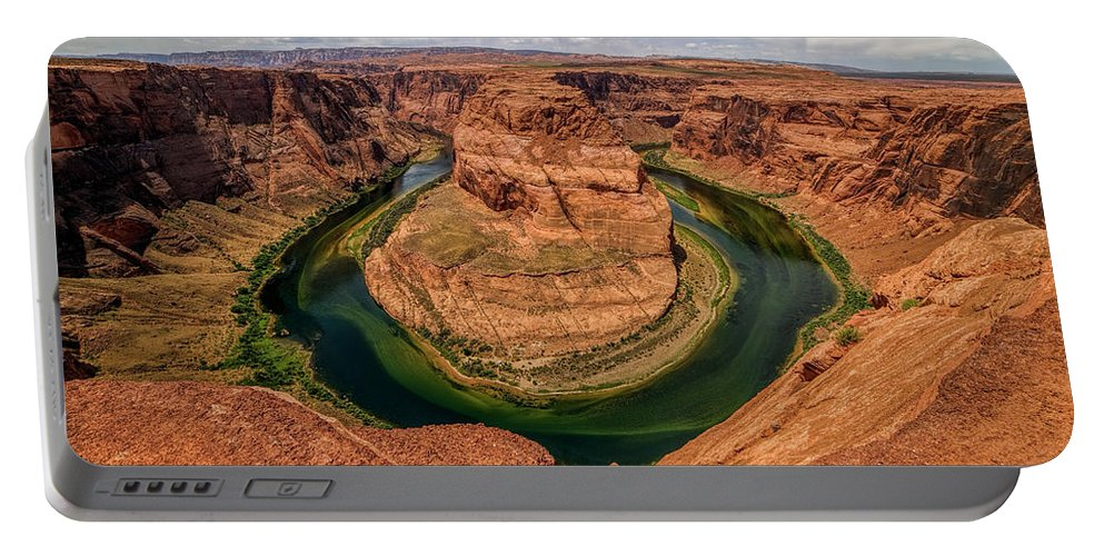 Canyon Portable Battery Charger featuring the photograph Horseshoe Bend by Jeff Niederstadt