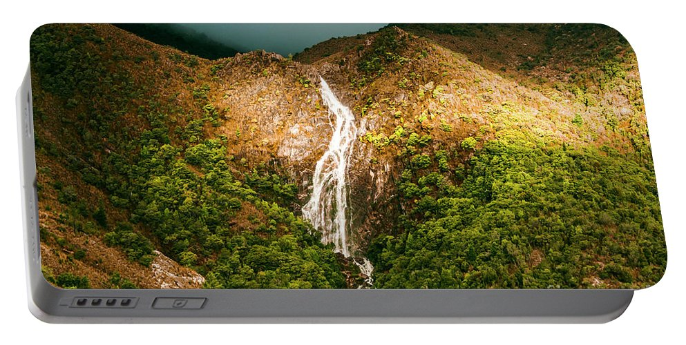 Waterfalls Portable Battery Charger featuring the photograph Horsetail Waterfalls Tasmania by Jorgo Photography - Wall Art Gallery