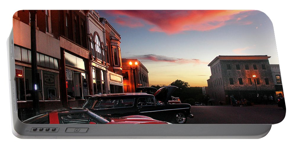 Car Portable Battery Charger featuring the photograph Hot Night by Steve Karol