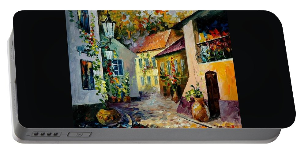 Landscape Portable Battery Charger featuring the painting Hot Noon Original Oil Painting by Leonid Afremov