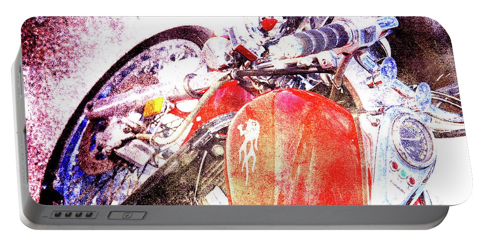 Ducati Portable Battery Charger featuring the photograph Hot Red by Susanne Van Hulst